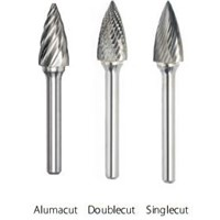 SG51D - 1/4X1/2X1/8SH  D/C TREE POINTED BUR
